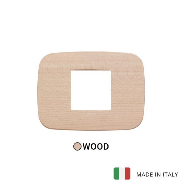 Vimar Arke Round Plate 2centrM Wood Maple
