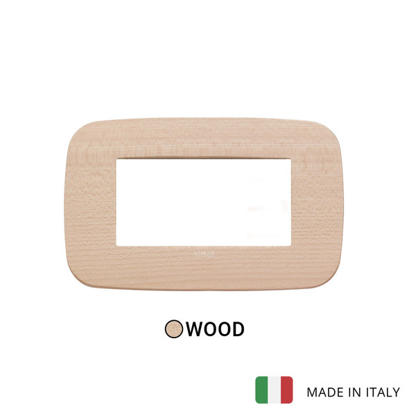 Vimar Arke Round Plate 4M Wood Maple