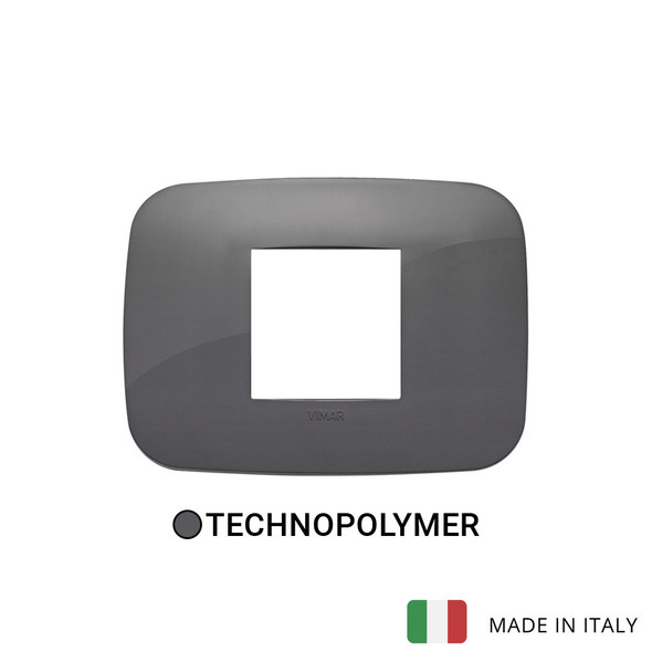 Vimar Arke Round Plate 2centrM Technopolymer Grey