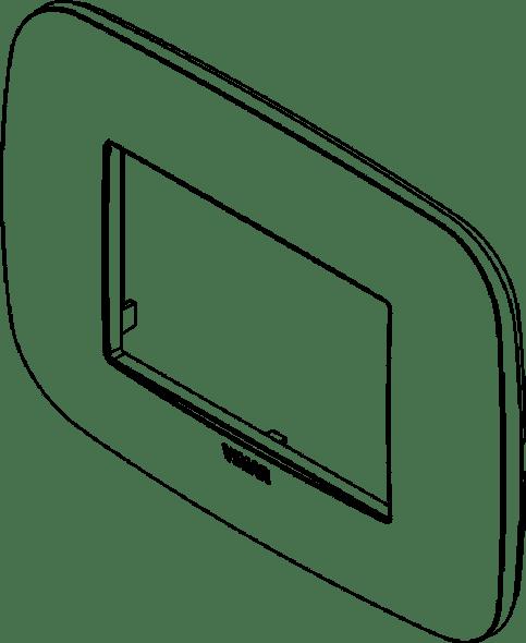 Vimar Arke Round Plate 3M Technopolymer Grey