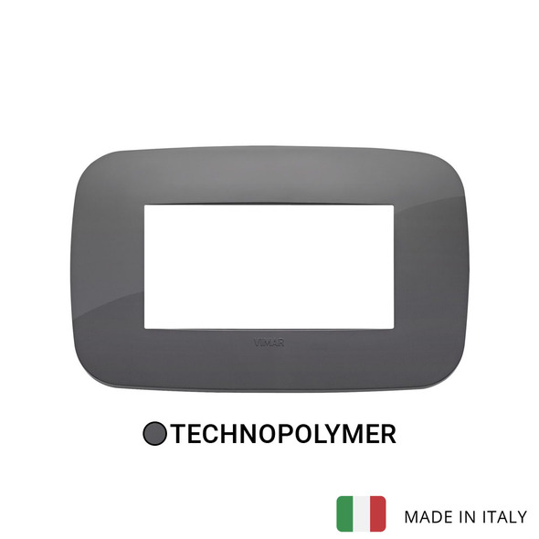 Vimar Arke Round Plate 4M Technopolymer Grey