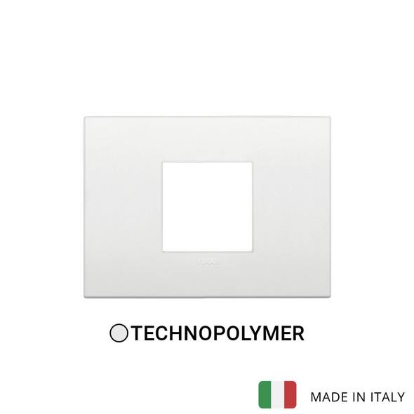 Vimar Arke Classic Plate 2centrM Technopolymer White