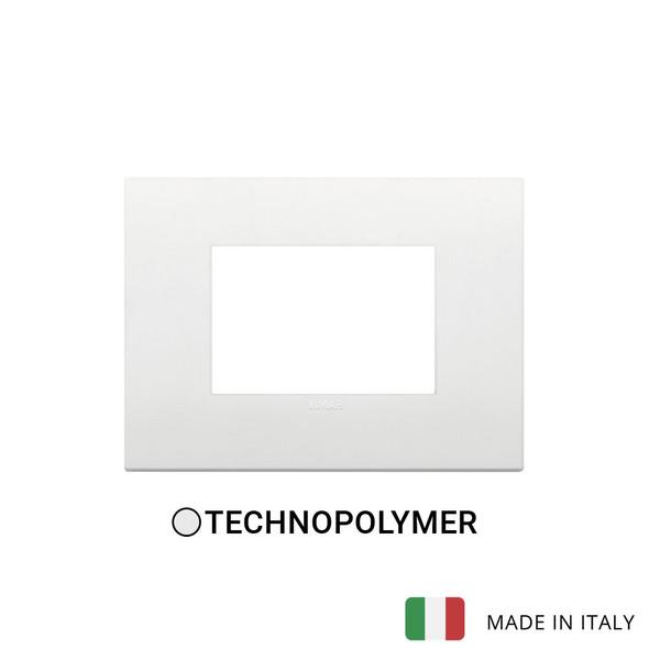 Vimar Arke Classic Plate 3M Technopolymer White
