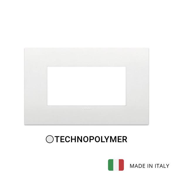 Vimar Arke Classic Plate 4M Technopolymer White