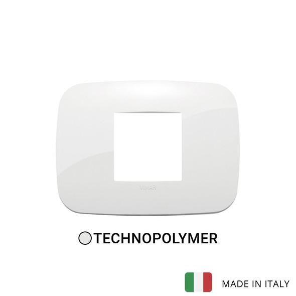 Vimar Arke Round Plate 2centrM Technopolymer White