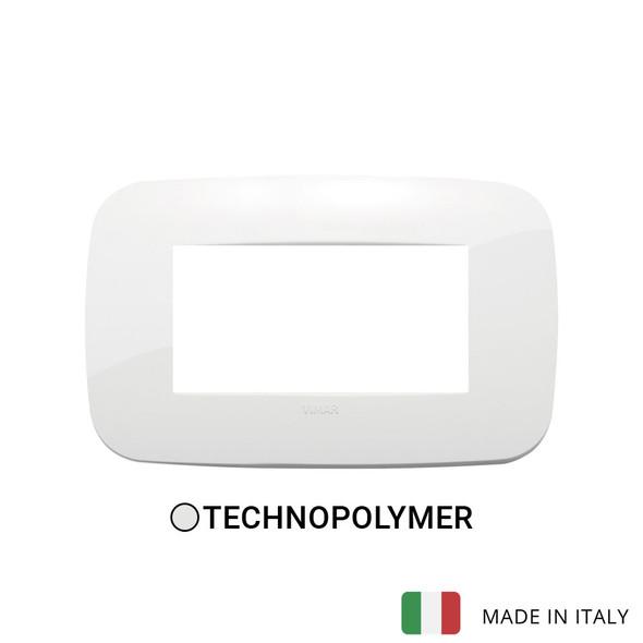 Vimar Arke Round Plate 4M Technopolymer White