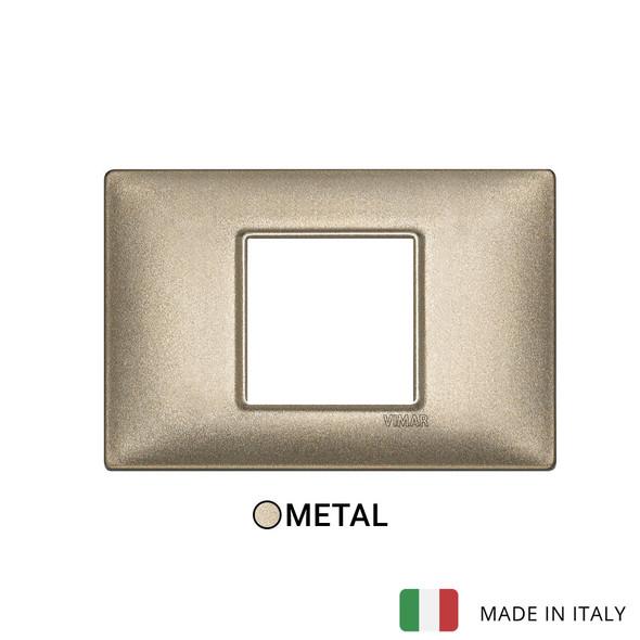 Vimar Plana Plate 2centrM Metal Metallized Bronze