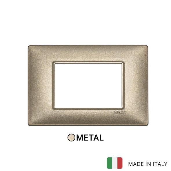 Vimar Plana Plate 3M Metal Metallized Bronze
