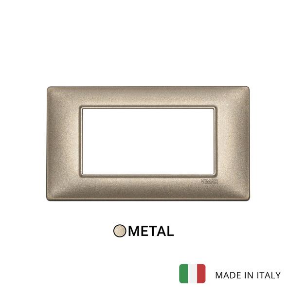 Vimar Plana Plate 4M Metal Metallized Bronze