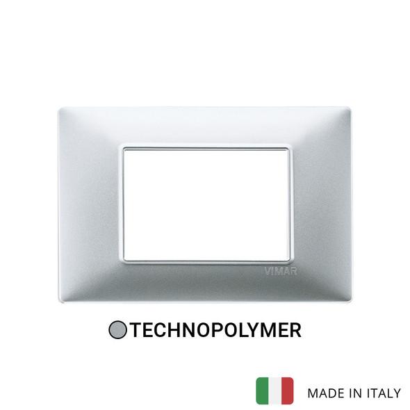 Vimar Plana Plate 3M Techn. Matt Silver