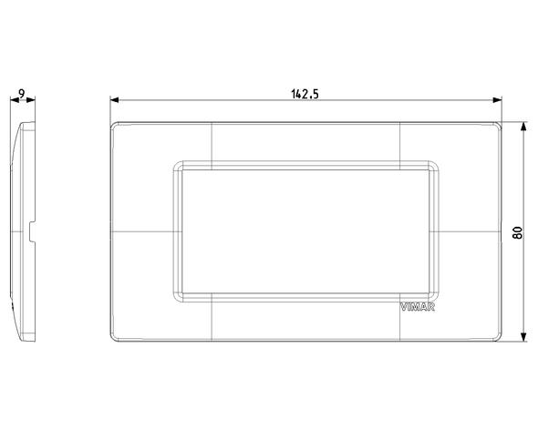 Vimar Plana Plate 4M Techn. Matt Silver