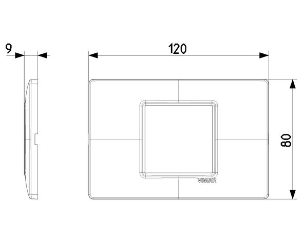 Vimar Plana Plate 2centrM Reflex Ash