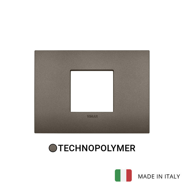 Vimar Arke Classic Plate 2centrM Technopolymer Aluminium