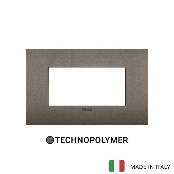 Vimar Arke Classic Plate 4M Technopolymer Aluminium