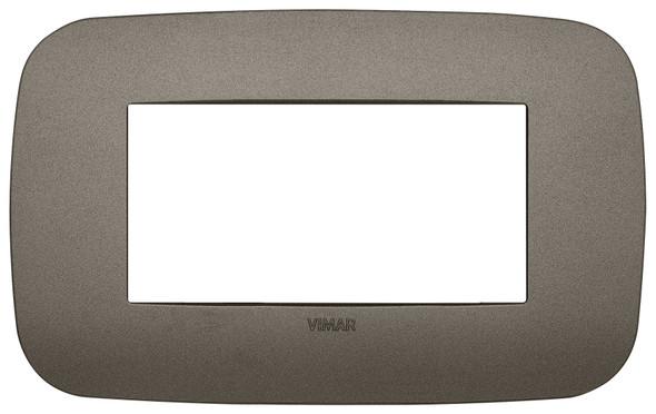 Vimar Arke Round Plate 4M Technopolymer Aluminium