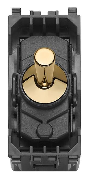 Vimar Eikon 1P NO 10A Push Button Vintage Gold