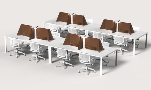 Pablo Table Corner Light Office 30 White/Chestnut