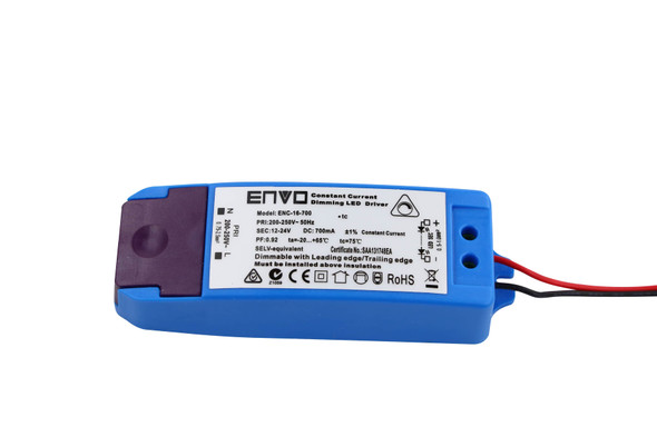 ENVO ENC-16-700 Dimmable LED Driver 8.4W-16W 700mA Constant Currnt