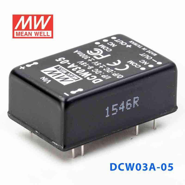 Meanwell DCW03A-05 DC-DC Converter - 3W - 9~18V in ±5V out