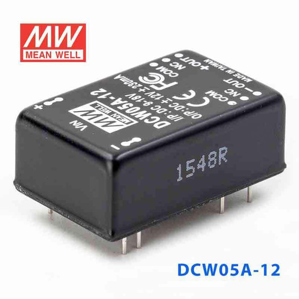 Meanwell DCW05A-12 DC-DC Converter - 5W - 9~18V in ±12V out