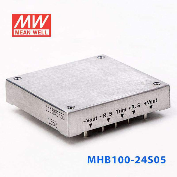 Meanwell MHB100-24S05 DC-DC Converter - 100W - 18~36V in 5V out
