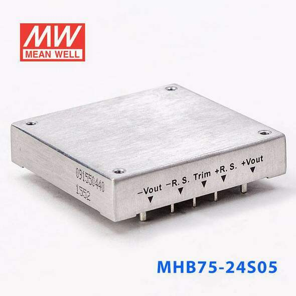 Meanwell MHB75-24S05 DC-DC Converter - 75W - 18~36V in 5V out