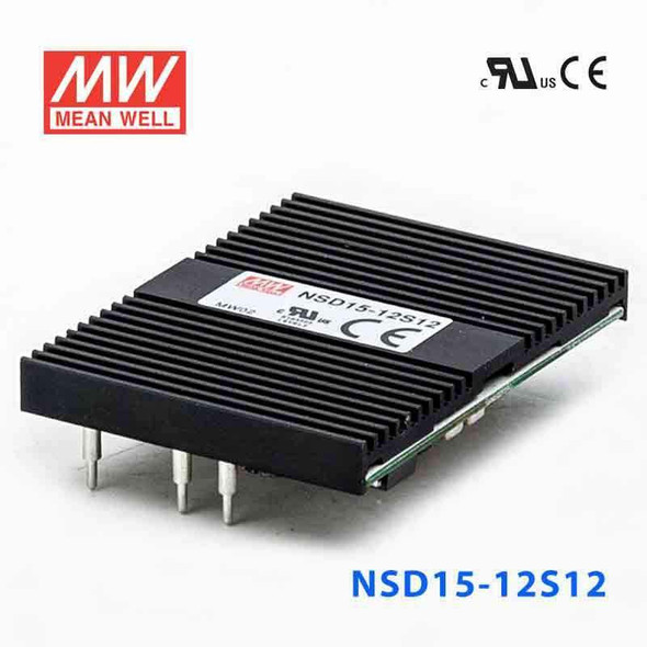 Meanwell NSD15-12S12 DC-DC Converter - 15W - 9.4~36V in 12V out