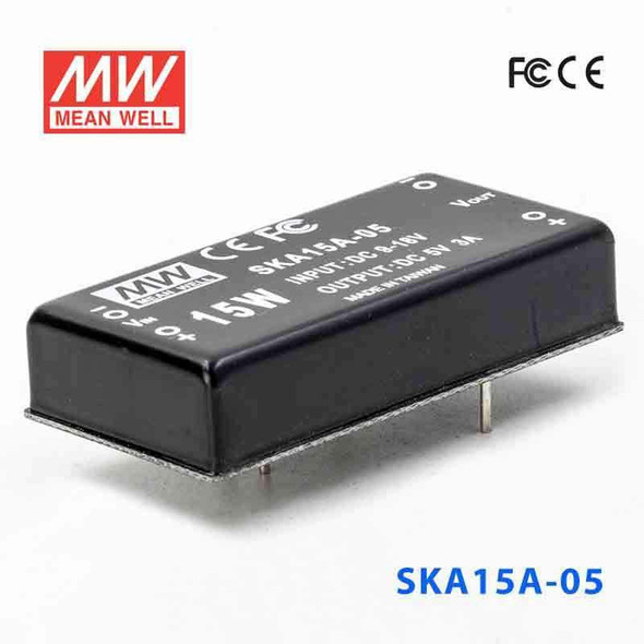 Meanwell SKA15A-05 DC-DC Converter - 9.9W - 9~18V in 5V out