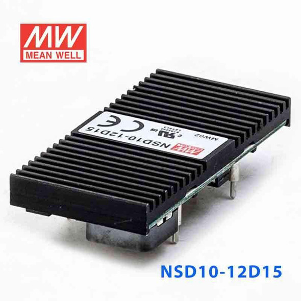 Meanwell NSD10-12D15 DC-DC Converter - 9.9W - 9.8~36V in ±15V out