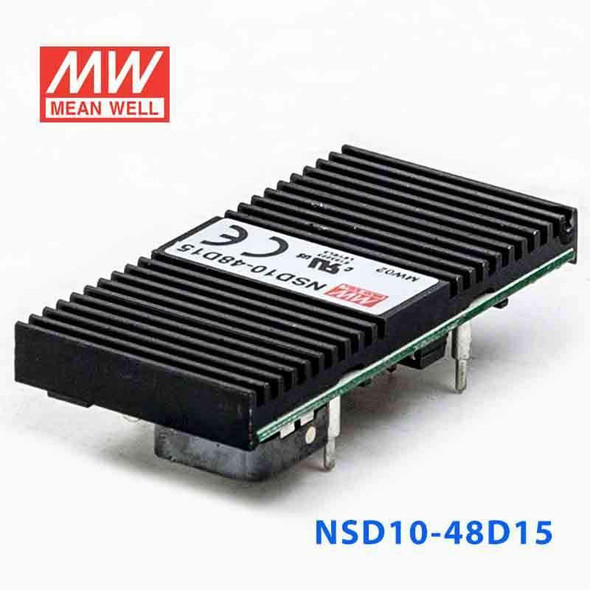 Meanwell NSD10-48D15 DC-DC Converter - 9.9W - 22~72V in ±15V out