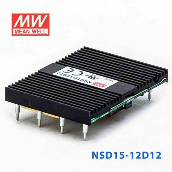 Meanwell NSD15-12D12 DC-DC Converter - 14.88W - 9.4~36V in ±12V out