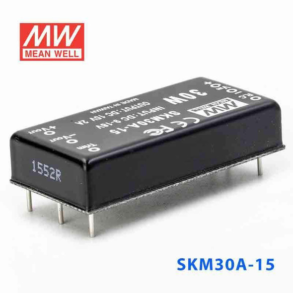 Meanwell SKM30A-15 DC-DC Converter - 30W - 9~18V in 15V out