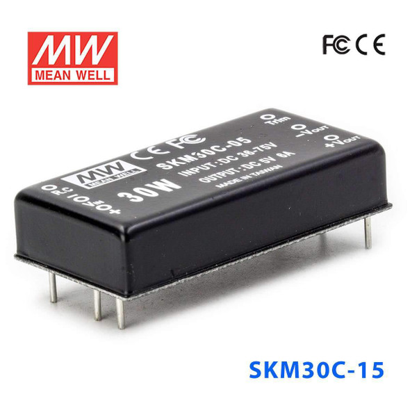 Meanwell SKM30C-15 DC-DC Converter - 30W - 36~75V in 15V out