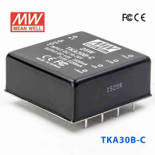 Meanwell TKA30B-C DC-DC Converter - 25W - 18~36V in ±12V out