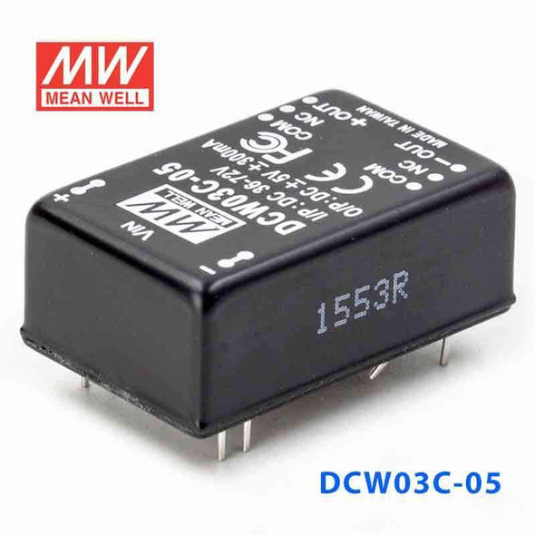Meanwell DCW03C-05 DC-DC Converter - 3W - 36~72V in ±5V out