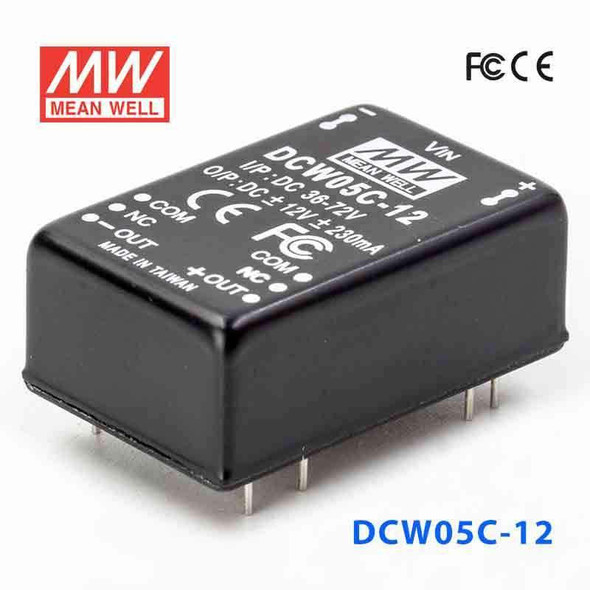 Meanwell DCW05C-12 DC-DC Converter - 5W - 36~72V in ±12V out