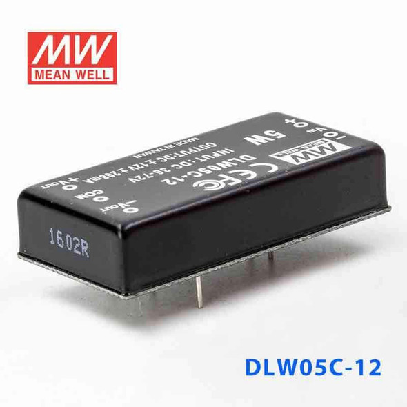 Meanwell DLW05C-12 DC-DC Converter - 5W - 36~72V in ±12V out