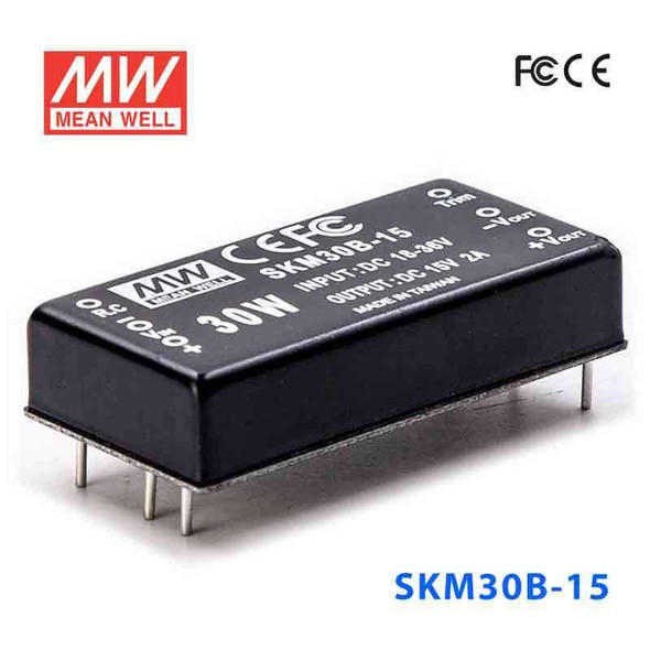 Meanwell SKM30B-15 DC-DC Converter - 30W - 18~36V in 15V out