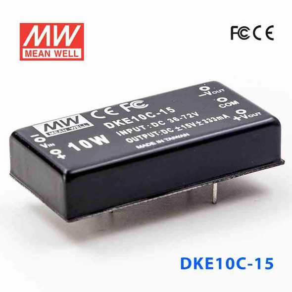 Meanwell DKE10C-15 DC-DC Converter - 10W - 36~72V in ±12V out