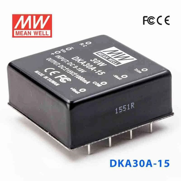 Meanwell DKA30A-15 DC-DC Converter - 30W - 9~18V in ±15V out