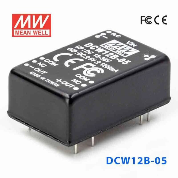 Meanwell DCW12B-05 DC-DC Converter - 12W - 18~36V in ±5V out