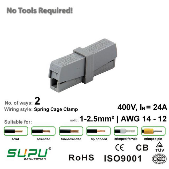 Supu 520201 Lighting Connector - 2 Way