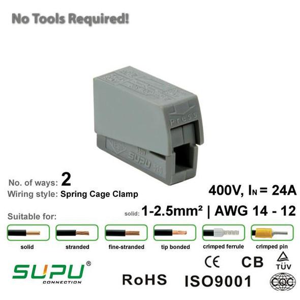 Supu 520101 Lighting Connector - 2 Way