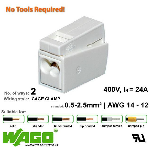 Wago 224-112 Lighting Connector - 3 Way