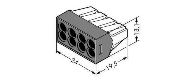 Wago 773-108 Push Wire Connector - 8 Way