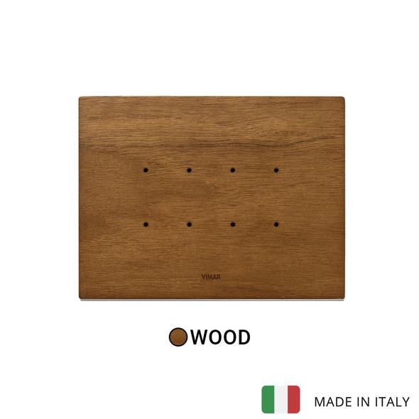 Vimar Eikon Tactil Plate 4M Wood Italian Walnut