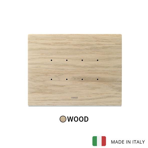 Vimar Eikon Tactil Plate 4M Wood White Oak