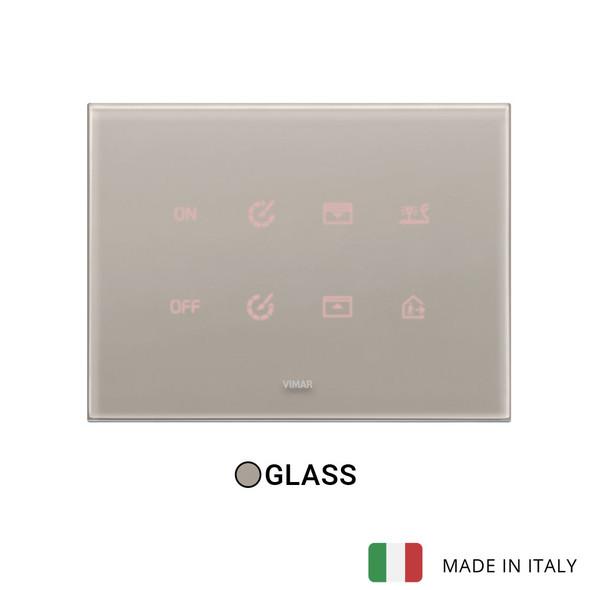 Vimar Eikon Tactil Plate 4M Crystal Pearl Grey