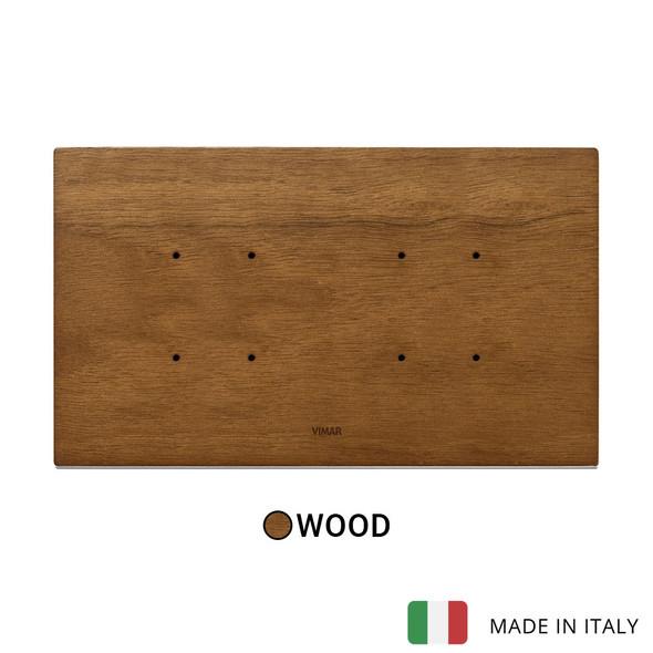 Vimar Eikon Tactil Plate 5MBS (2+blank+2) Wood Ital Walnut
