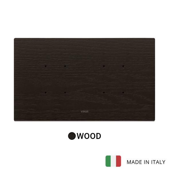 Vimar Eikon Tactil Plate 5MBS (2+blank+2) Wood Wenge